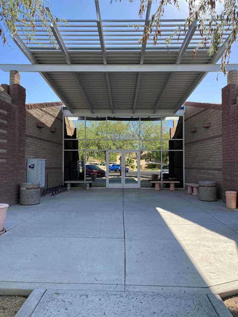 View of our walkway at Solutions Dental Implants in Sun City West, AZ